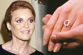 Sarah Ferguson and her ruby engagement ring