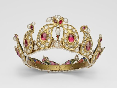 Queen Victoria's Indian Ruby, Lasque, and Pearl Tiara
