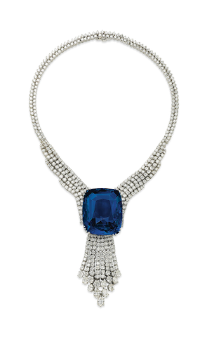 The Blue Belle of Asia necklace