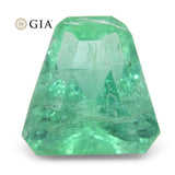3.06ct Shield Emerald GIA Certified Ethiopian F1/Minor