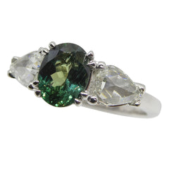 Custom Designed Alexandrite & Diamond Ring by David Saad of Skyjems.ca
