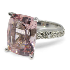 11.69ct Morganite Ring in 14k White Gold-Skyjems.ca Custom Jewellery