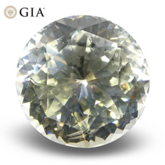 Skyjems 1.62ct Round White Sapphire GIA Certified