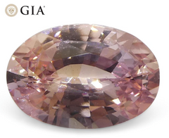 Skyjems 1.51ct Oval Orangy Pink Padparadscha Sapphire GIA Certified Sri Lankan Unheated
