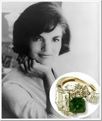 Jackie Kennedy and her unique emerald engagement ring