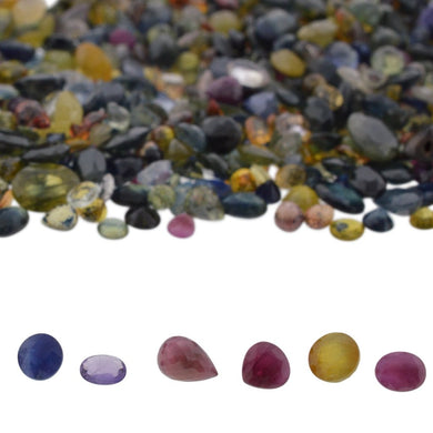 50cts Mixed Multi Colour Natural Sapphire - Skyjems Wholesale Gemstones