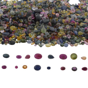 1000cts Mixed Multi Colour Natural Sapphire - Skyjems Wholesale Gemstones