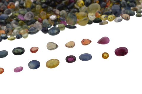 1000cts Mixed Multi Colour Natural Sapphire