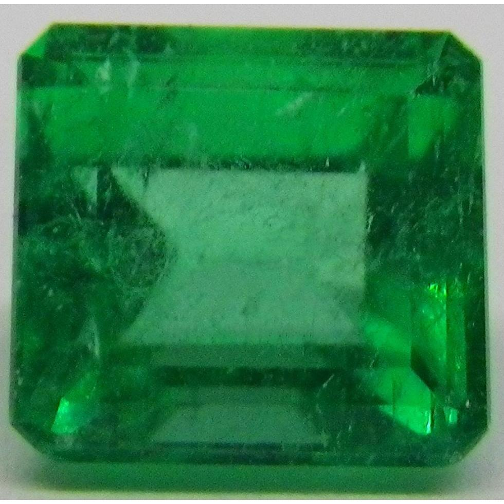 tv diamond emerald estate product cut engagement ring