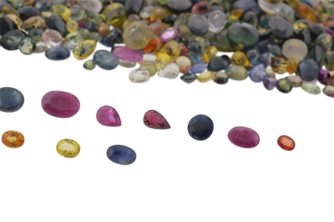 50cts Mixed Multi Colour Natural Sapphire