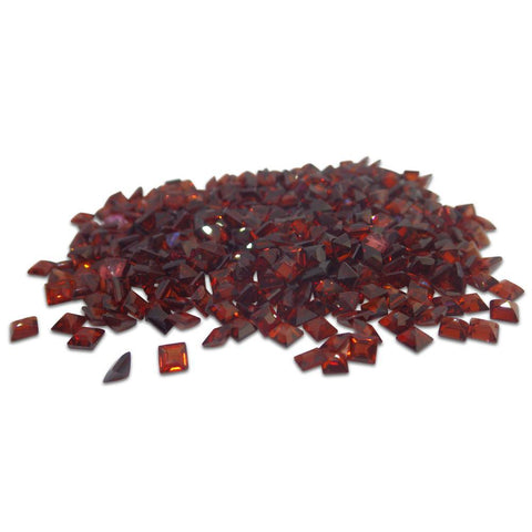 12 Stones - 10.2 ct Almandine Garnet 5mm Square