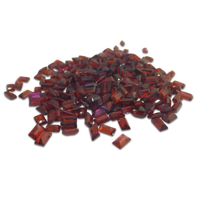 27 Stones - 10 ct Almandine Garnet 5x3mm Baguette - Skyjems Wholesale Gemstones