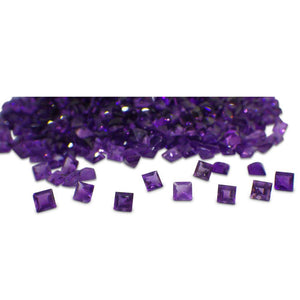 30 Stones - 9.90 ct Amethyst 4mm Square - Skyjems Wholesale Gemstones
