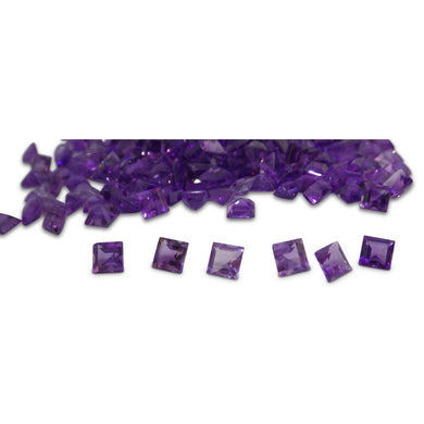 17 Stones - 9.86 ct Amethyst 5x5mm Square - Skyjems Wholesale Gemstones