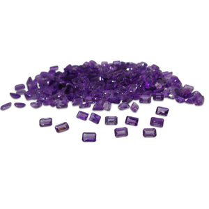 18 Stones - 9.54 ct Amethyst 6x4mm Emerald - Skyjems Wholesale Gemstones