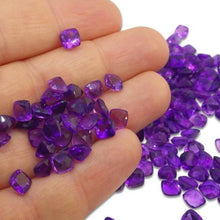10 Stones - 9.80 ct Amethyst 6x6mm Cushion