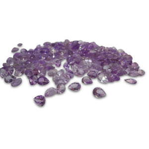16 Stones - 10 ct Amethyst 7x5mm Pear