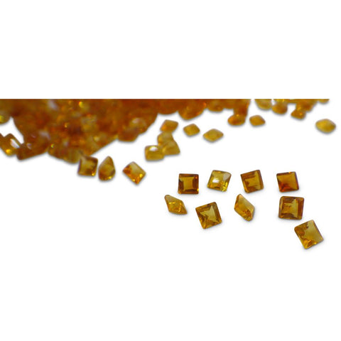 111 Stones - 10 ct Citrine 2.5mm Square