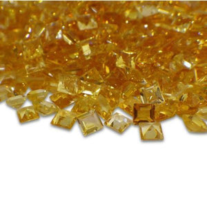 77 Stones - 10 ct Citrine 3mm Square - Skyjems Wholesale Gemstones