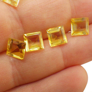 7 Stones - 10.5 ct Citrine 7mm Square
