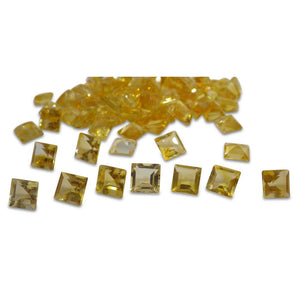 7 Stones - 10.5 ct Citrine 7mm Square - Skyjems Wholesale Gemstones