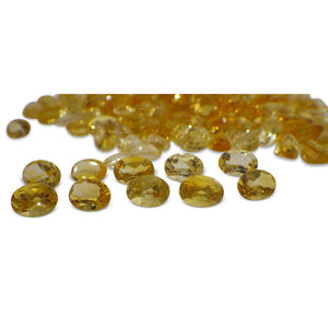 15 Stones - 10.5 ct Citrine 7x5mm Oval - Skyjems Wholesale Gemstones