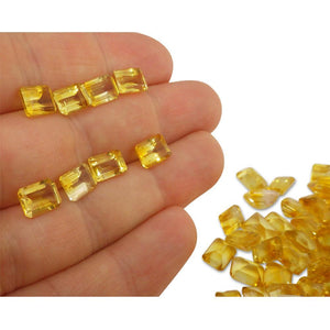 7 Stones - 10.5 ct Citrine 8x6mm Octagon - Skyjems Wholesale Gemstones