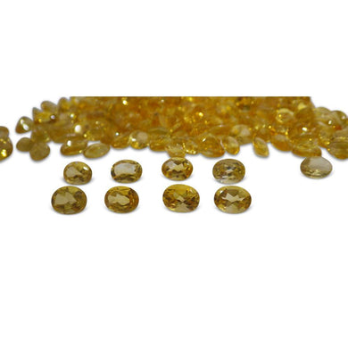 9 Stones - 9.90 ct Citrine 8x6mm Oval