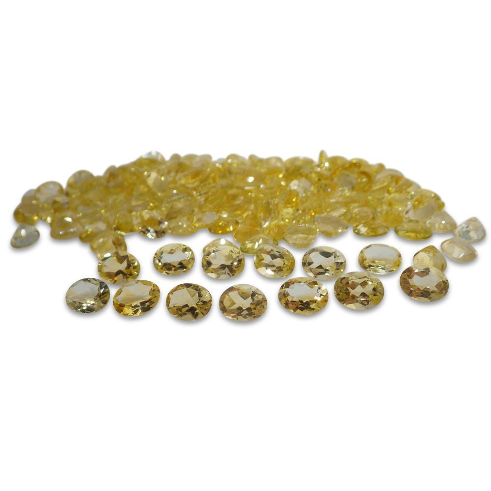 6 Stones - 9.90 ct Citrine 9x7mm Oval