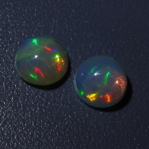 2 Stones - 1 ct Opal 6mm Round