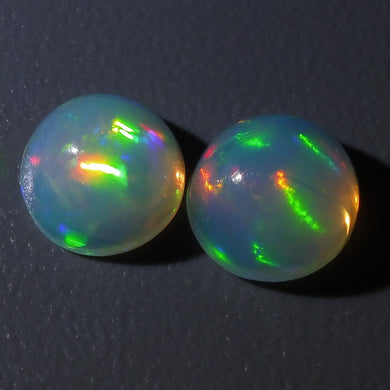 2 Stones - 1.6 ct Opal 7mm Round
