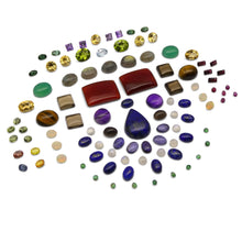 100 cts+ Mixed Gemstones: Peridot, Amethyst, Emerald, Citrine, Ruby, Moonstone+ Great Beginner Wholesale Lot