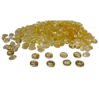 10 Stones - 11.5 ct Citrine 8x6mm Oval - Skyjems Wholesale Gemstones