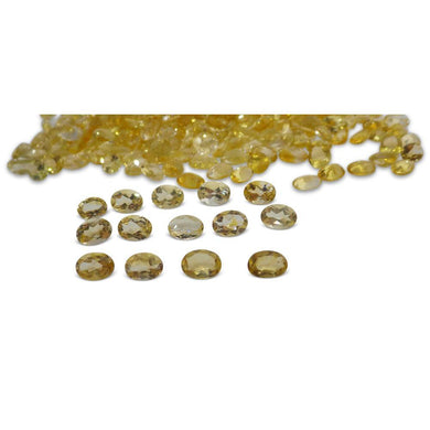 20 Stones - 13 ct Citrine 7x5mm Oval - Skyjems Wholesale Gemstones