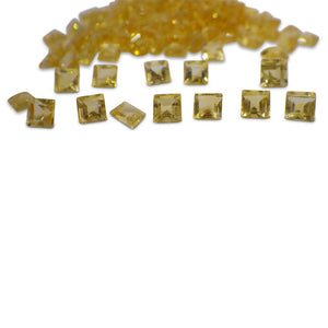 44 Stones - 14.96 ct Citrine 4mm Square