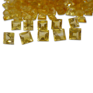 22 Stones - 14.96 ct Citrine 5mm Square