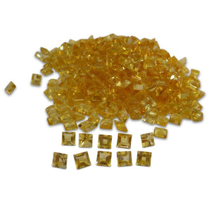 22 Stones - 14.96 ct Citrine 5mm Square - Skyjems Wholesale Gemstones