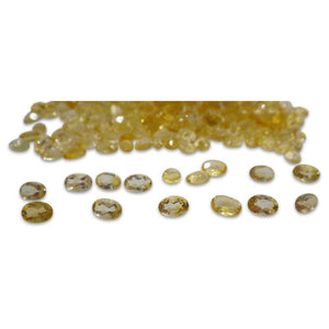 37 Stones - 14.8 ct Citrine 6x4mm Oval - Skyjems Wholesale Gemstones