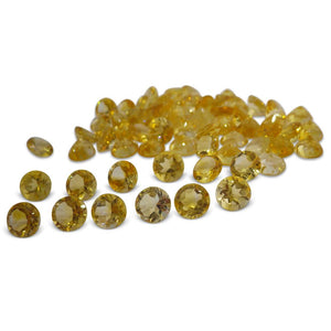 17 Stones - 14.8 ct Citrine 8mm Round