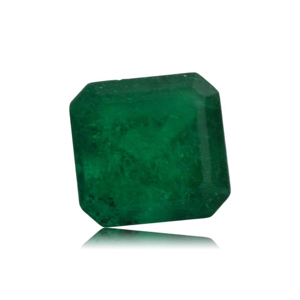 carat htm cut emerald stone p colombian platinum ring r