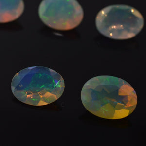 2 Stones - 1.26 ct Opal 8x6mm Faceted Oval