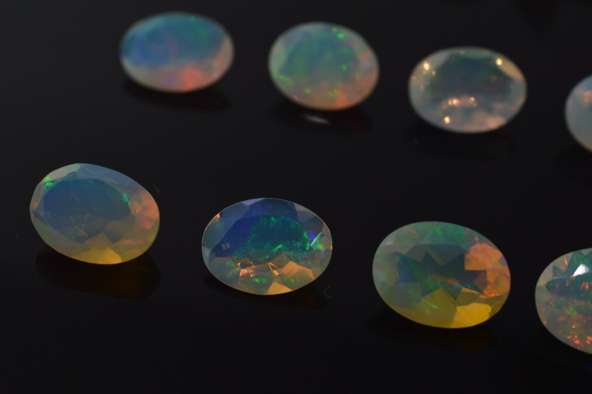 0.95 ct Opal 9x7mm Faceted Oval