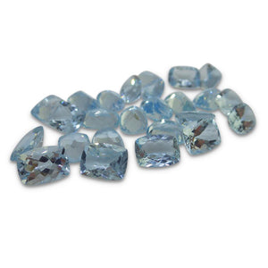 1.15 ct Aquamarine 8x6mm Cushion - Skyjems Gemstones Gems