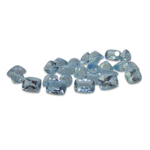 2 ct Aquamarine 8x6mm Cushion