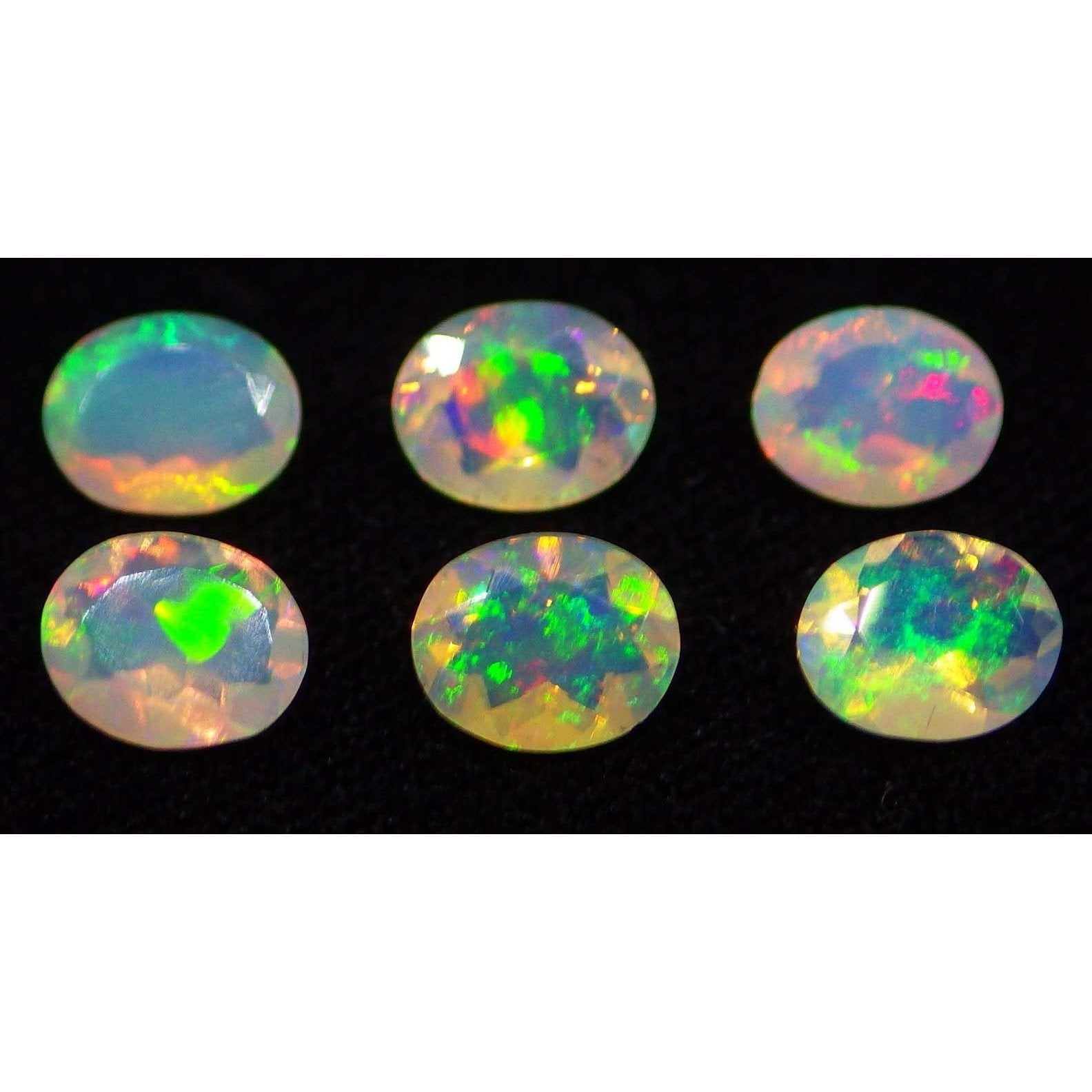 6 Stones - 1.14 ct Opal 5x4mm Faceted Oval