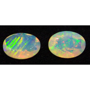 2 Stones - 0.86 ct Opal 7x5mm Faceted Oval - Skyjems Wholesale Gemstones