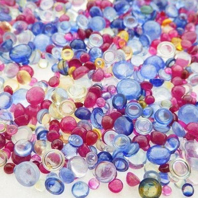 41.52ct Tutti Frutti Mix Ruby/Sapphire Round Cabochon Wholesale Lot