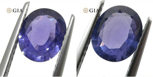 1.31ct Oval Color Change Sapphire GIA Certified Burma (Myanmar) Unheated, Violet to Purple - Skyjems Wholesale Gemstones