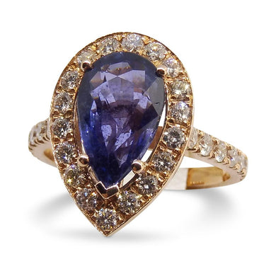 2.74ct Sapphire Ring, in 14kt Pink/Rose Gold with 0.75cts Diamonds GS Labs Certified