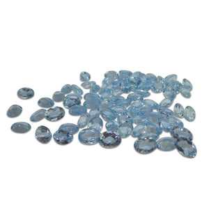 4 Stones - 2.56 ct Aquamarine 7x5mm Oval